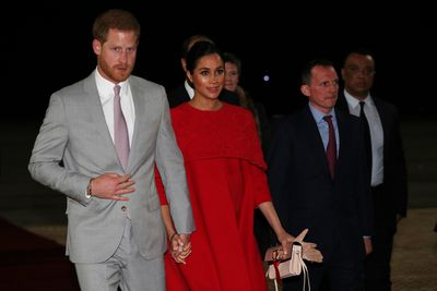Prince Harry and Meghan arrive at Casablanca Airport on February 23, 2019