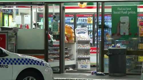 Sydney woman Evie Amati has been found guilty of wounding with intent to murder and cause grievous bodily harm over a 2017 axe attack an an Enmore 7-Eleven store. Picture: 9NEWS.