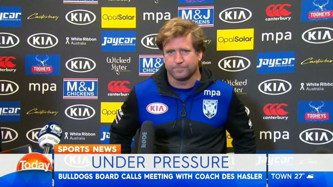 Bulldogs board could determine Hasler's fate