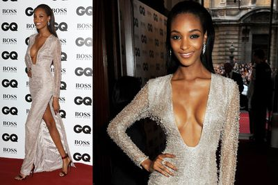 Model Jourdan Dunn. That's a lot of mid-boob!
