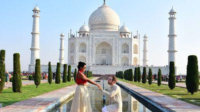 Yoga couple proposal