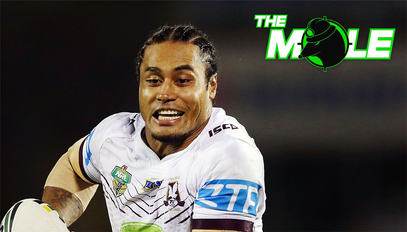 Steve Matai during his playing days for Manly.