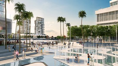 More than 200 schemes were proposed since 1833 to develop the Perth waterfront. (AAP, artist impression)