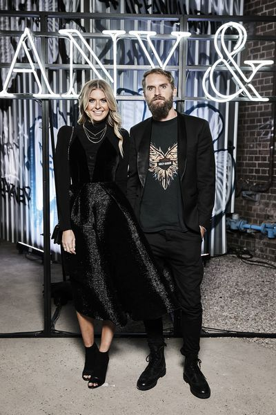 Elle Ferguson and Joel Patfull at the Tiffany & Co. HardWare launch, Carriageworks, Sydney.