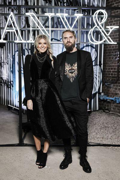 Elle Ferguson and Joel Patfullat the Tiffany & Co. HardWare launch, Carriageworks, Sydney.