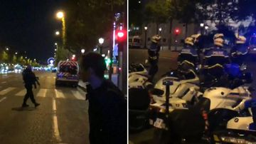 9RAW: Paris in lockdown after police shooting
