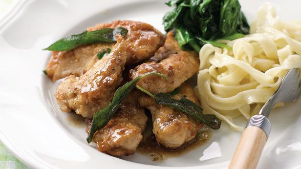 Chicken with lemon and sage