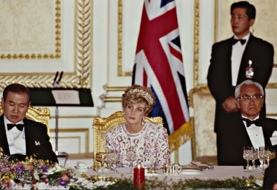 Diana at a state dinner
