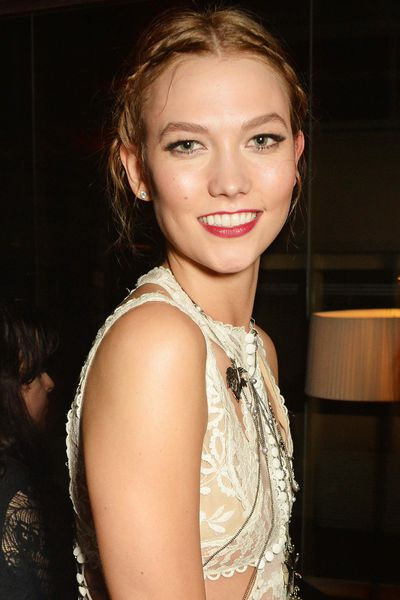 Twist the loose pieces and pin <em>a la</em> Karlie Kloss.&nbsp;