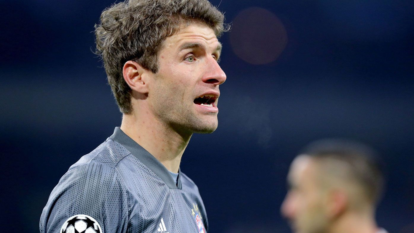 Muller sent off for Karate kick challenge as Bayern, Ajax advance to UCL knockout stage
