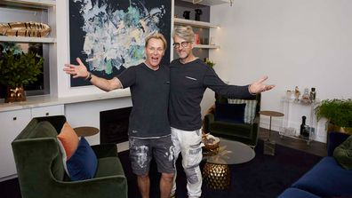 Mitch and Mark formal living room The Block 2019.