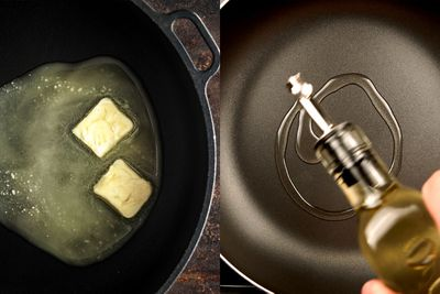 Swap butter for oil in cooking