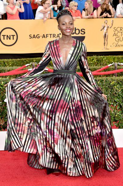 Lupita Nyong'o at the 21st Screen Actor Guild Awards, January 25, 2015