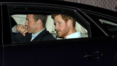 Harry was driven to the car park underneath the Shangri La Hotel at the edge of Circular Quay. (AAP)