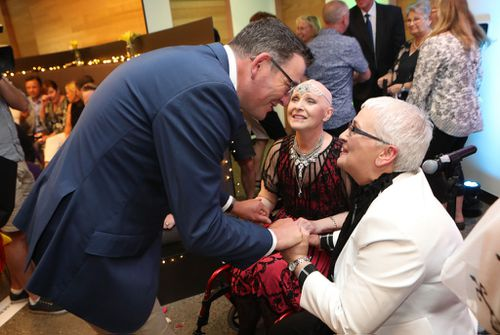 Victorian Premier Daniel Andrews was in attendance and offered the couple his warm regards. (AAP)