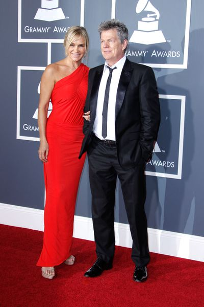 Yolanda Hadid with ex husband David Foster at the 2011 Grammy Awards