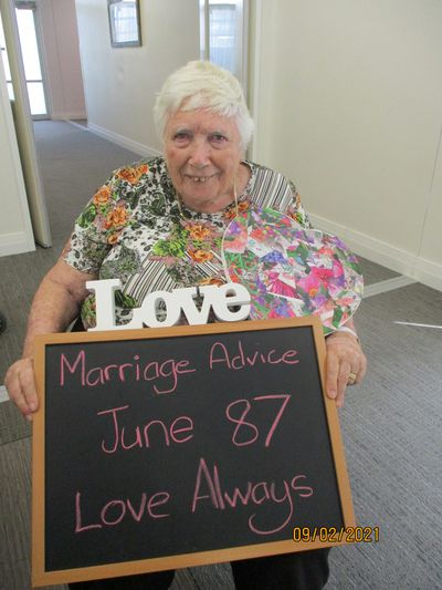 """June, 87: """"Love Always"""""""