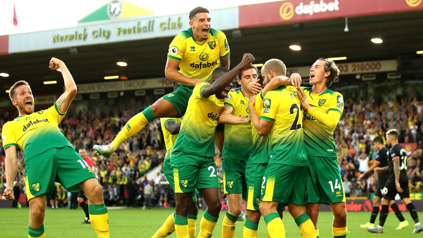 Norwich stun Manchester City, Liverpool march on atop English Premier League