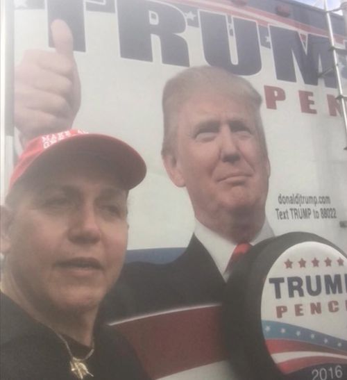 Sayoc posted a self-shot video of himself at what appears to be a Trump rally.