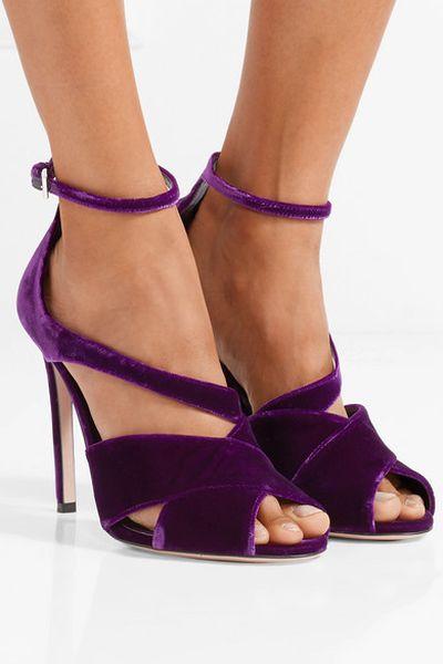 """<a href=""""https://www.net-a-porter.com/au/en/product/895517/Prada/velvet-sandals"""" target=""""_blank"""">Prada Velvet Sandals, $530</a>"""