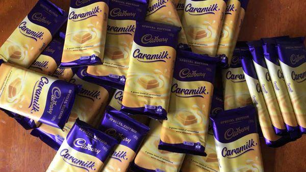 Caramilk chocolate slabs