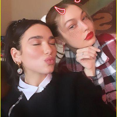 Dua Lipa and Gigi Hadid
