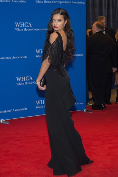 Adriana Lima at the White House Correspondents' Dinner.