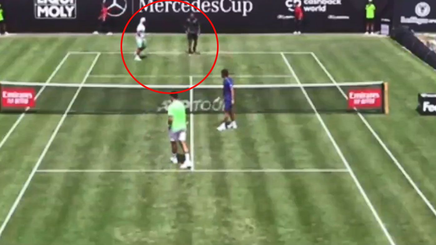 Nick Kyrgios starts grass-court season with a win