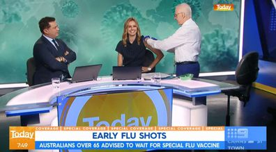 Today's Allison Langdon gets the flu shot on air