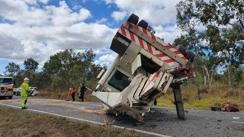 Two injured in Mareeba crane rollover