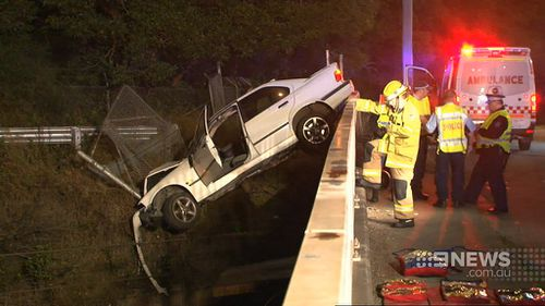 Mr Choi fell after not realising the car was precariously placed over a drop. (9NEWS)