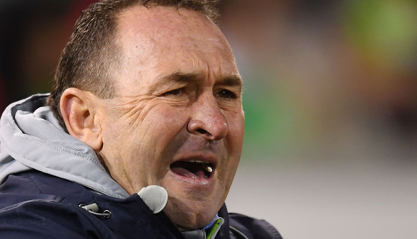 Raiders coach Ricky Stuart
