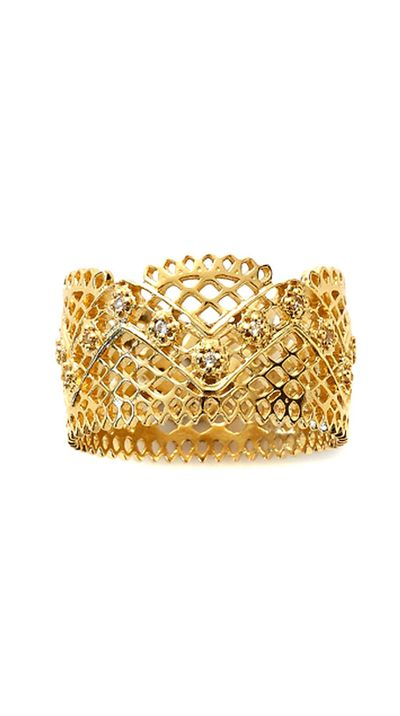 "<a href=""http://pinkloulou.com/lace-ring-in-gold-plate-with-white-sapphires "">Lace Ring in Gold Plate with White Sapphires, $229, Pink Lou Lou </a>"