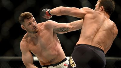 Michael Bisping shocked the UFC world when he defeated Luke Rockhold to become a most unlikely champion. (Hans Gutknecht/Los Angeles Daily News via AP/AAP)