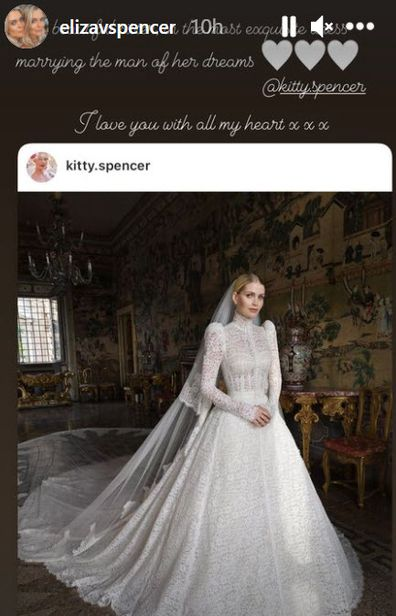 Her twins sisters have commented on their sister's wedding on Instagram.