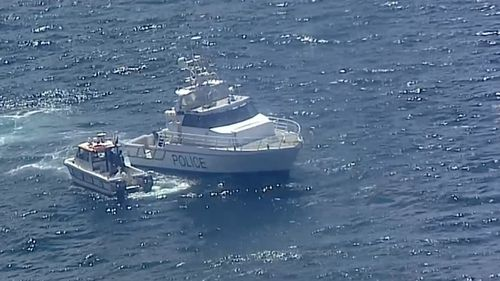 Several boats attended the search off Little Marley Beach, approximately 6km south of Bundeena.
