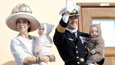 Princess Mary and Prince Frederick with the twins, 2011