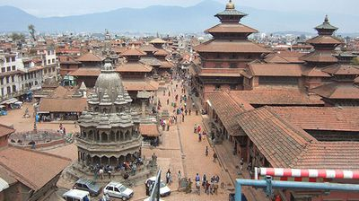 <p><b>Patan Durbar Square before</b></p><p>The square, pictured before the disaster, is the third major hub of the historic royal family. </p>