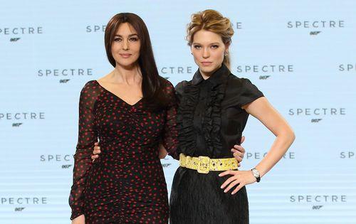 Bond Girls Monica Bellucci and Lea Seydoux. (Getty)