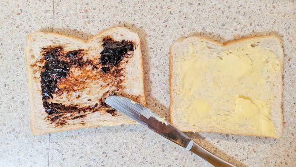 The offending Vegemite sandwich