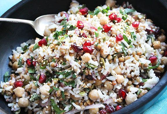 Liliana Battle's 'feel good' rice, chickpea and cranberry salad
