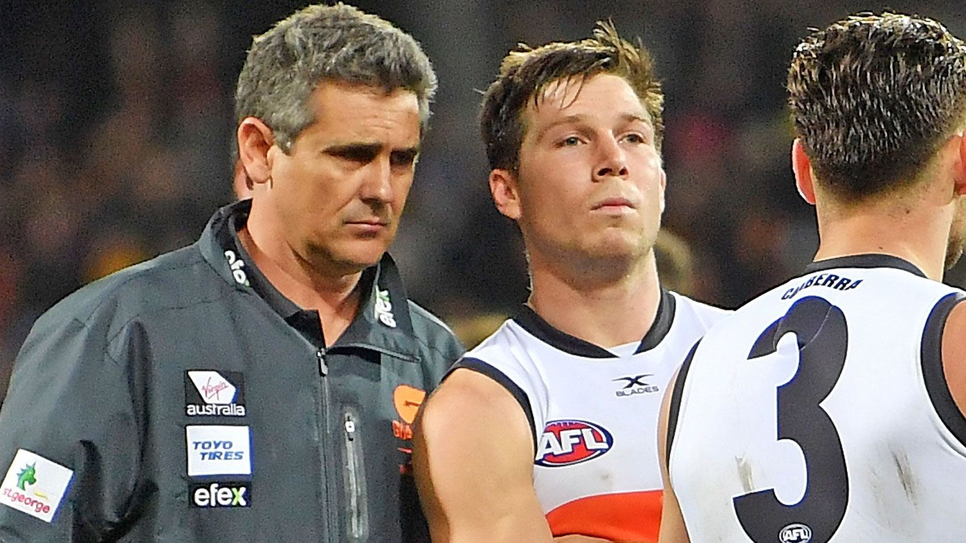GWS Giants coach Leon Cameron says club won't 'shy away' from Toby Greene's disciplinary issues