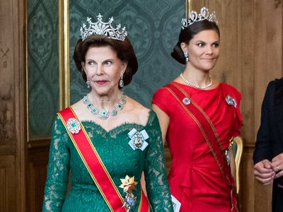 Queen Silvia and Crown Princess Victoria of Sweden dust off their tiaras