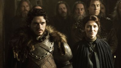 Richard Madden and Michelle Fairley on Game of Thrones