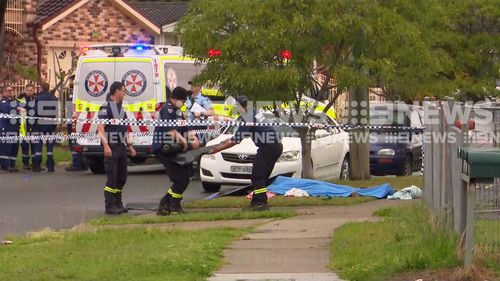 A man has been stabbed to death in the street in Blacktown.