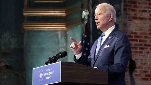 Joe Biden will be inaugurated as president on January 20.
