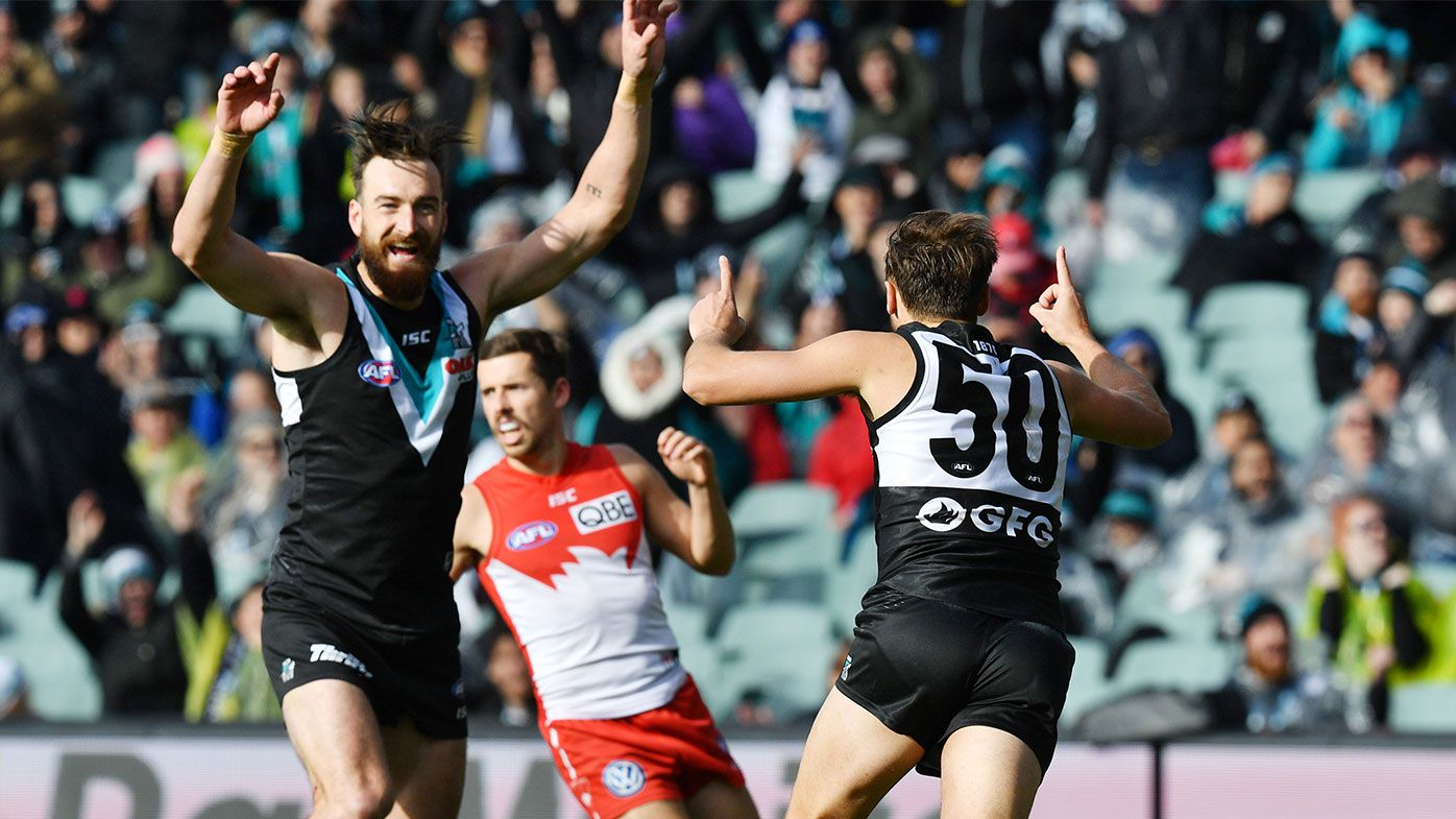 Port Adelaide down the Swans at Adelaide Oval