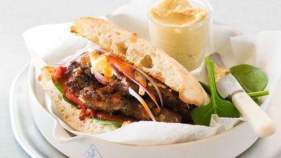 "<a href=""http://kitchen.nine.com.au/2016/05/16/17/36/middle-eastern-spiced-lamb-burger"" target=""_top"">Middle Eastern spiced lamb burger</a><br>"