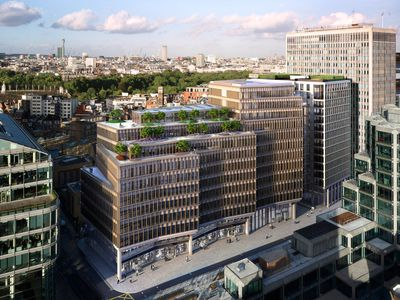 """The Zig Zag Building by <a href=""""http://www.lyncharchitects.com/"""" target=""""_blank"""">Lynch Architects</a>, London."""