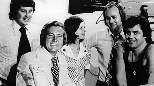 Bill Peach (front left) with Paul Murphy, June Heffernan, Tony Joyce and Peter Luck. (ABC)